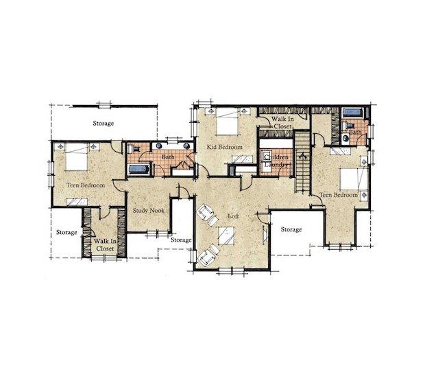 Arthur Rutenberg Homes Custom Home Design Living Area: Evans Coghill Homes - ChevalNC.com