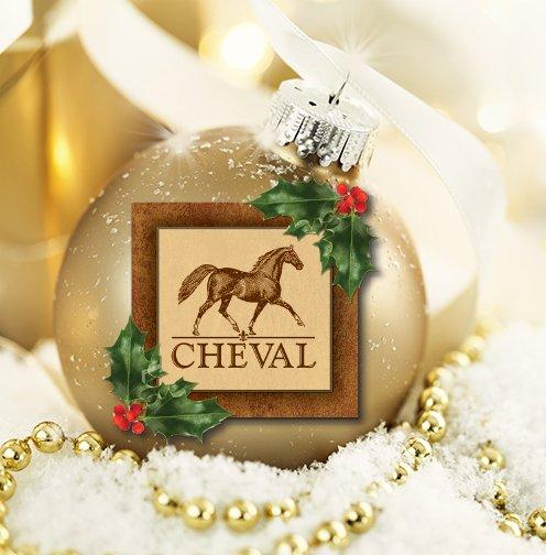 Closeup golden shiny ball decoration for Christmas.